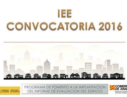 CONVOCATORIA DE AYUDAS 2016 PARA EL IEE EN ZARAGOZA