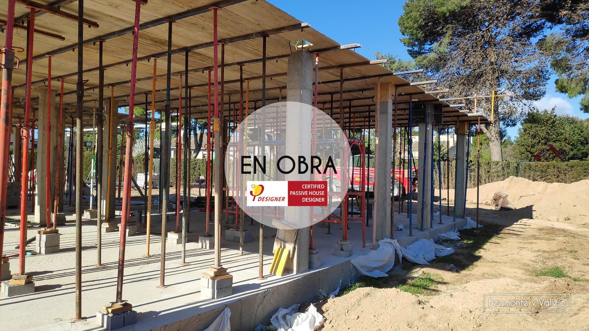 Beamonte y Vallejo arquitectos - Passivhaus El Zorongo II en obra - 02