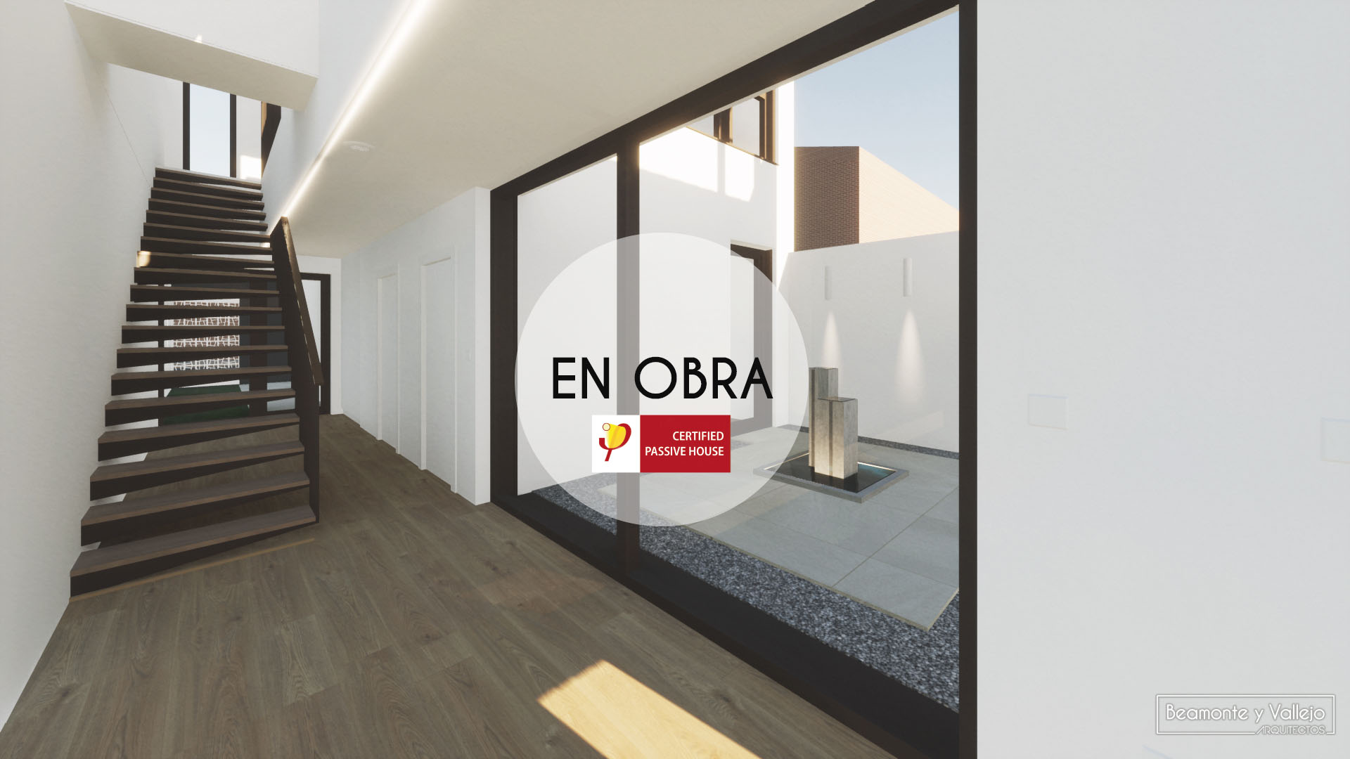 Beamonte y Vallejo arquitectos - Passivhaus Ontinar en obra - 2